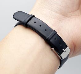 Bracelet cuir Xiaomi Miband bracelet cuir noir