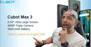 10 cubot max 3 à gagner, un mega phone avec écran 6,95,camera sony 48mp et batterie 5000mah