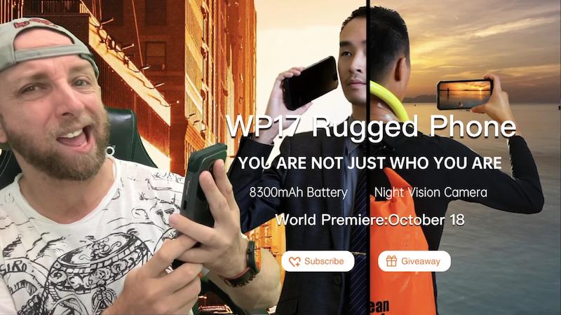 20 écouteurs + 2 smartphone oukitel wp17 à gagner, 6,78 fhd, helio 95,8300mah, cam 64mp vision nuit