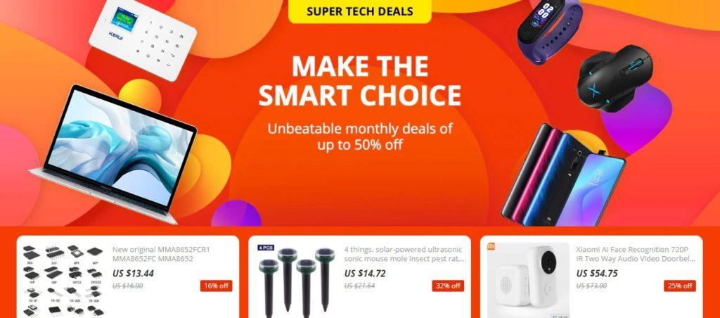 aliexpress super tech deal