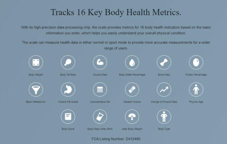 Amazfit Smart Scale Body Health Metrics 768x486