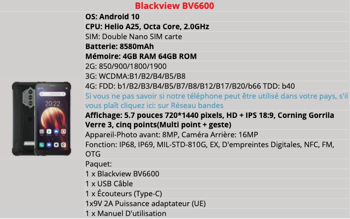 Blackview Bv6600 Details