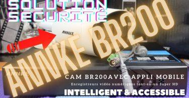 Caméra Sécurité Annke B200 Avec Enregistreur Numerique Et Appli Mobile,intelligente Et Accessible