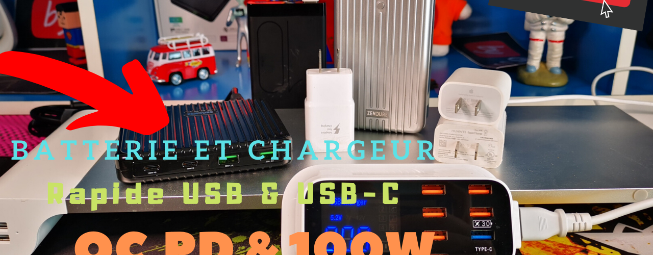 Chargeur Rapide Qc Pd 100w