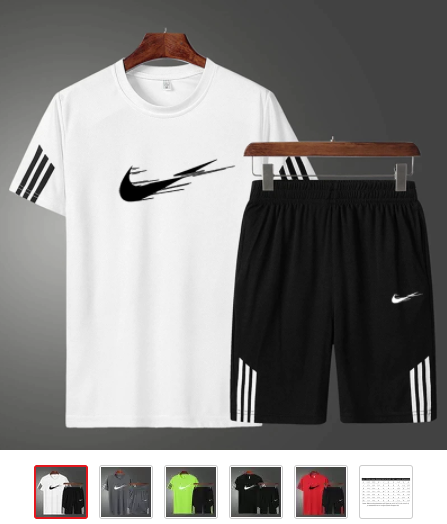 combo t shirt + short virgule