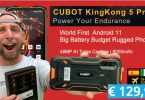 cubot king kong 5 pro android 11,batterie 8000mah,camera sony 48mp et ultra resistant