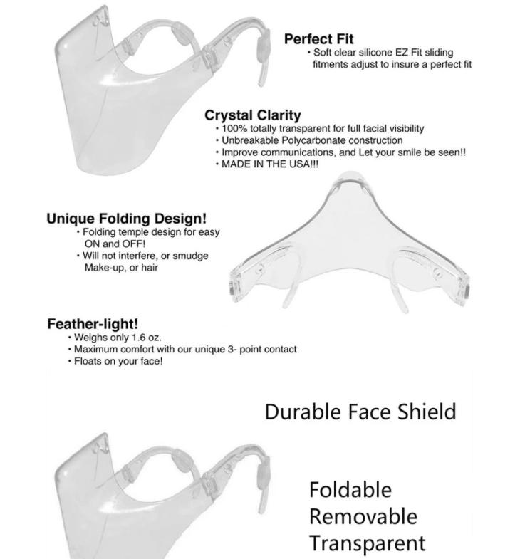 Détails Masque Transparent De Protection Faciale