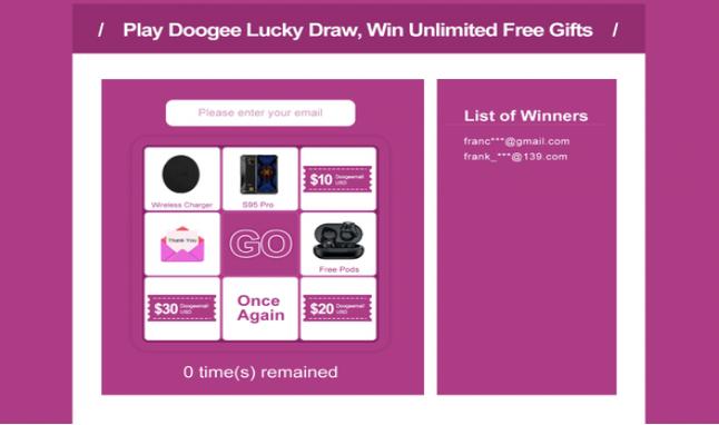 Doogee Lucky Draw