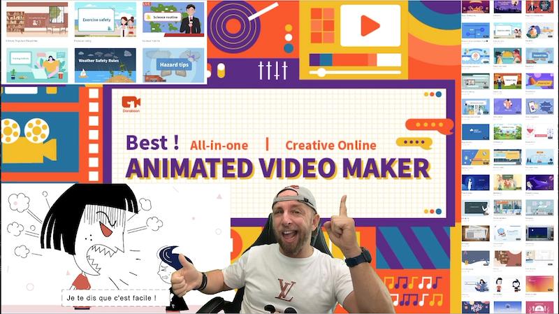 doratoon,un créateur de vidéo d'animation en ligne créatif tout en un en ligne et gratuit