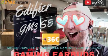 Ecouteurs Gaming Edifier Gm3se Bzfuture Avec Micro Deporté Et Amovible