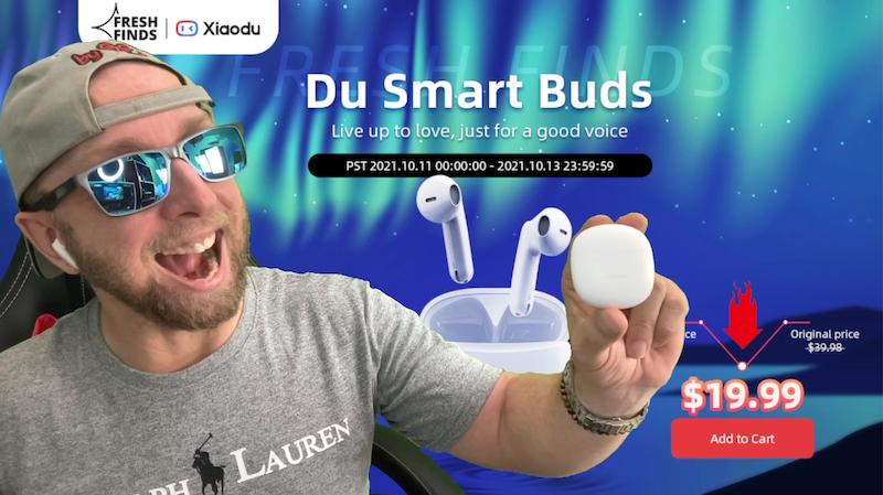 ecouteurs intra sans fil baidu xiaodu du smart buds,le google chinois frappe fort et casse les prix