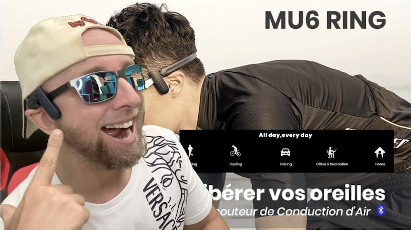 ecouteurs sport sans fil air conduction mu6 ring, une idée de genie !