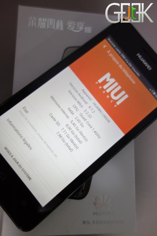 Huawei Honor 2 Miui France