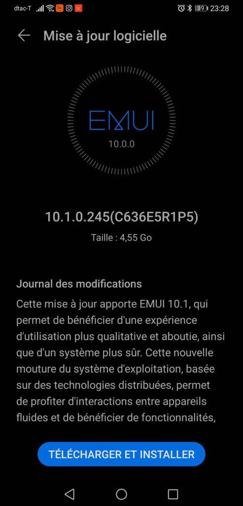 Huawei Mate 20x Upgrade