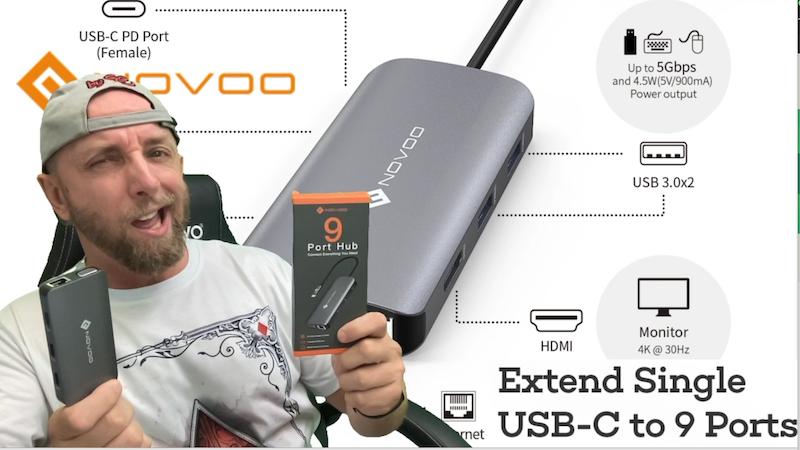 hub usb type c novoo, le hub qu'il te faut pour ton pc,mac,smartphone ou tablette