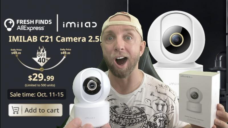 imilab c21,camera ip maison 2,5k panoramique motorisée avec detection mouv et vision nuit, en promo il te l'a faut