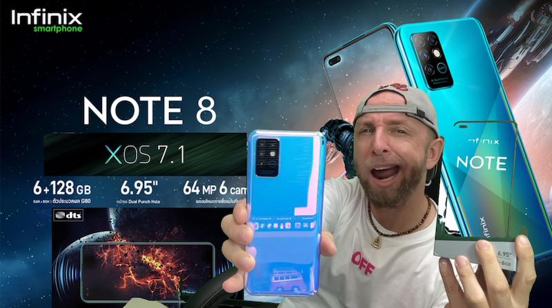 infinix note 8, un smartphone geant 6,95,helio g80,5200mah et 64mp super stable en mode love