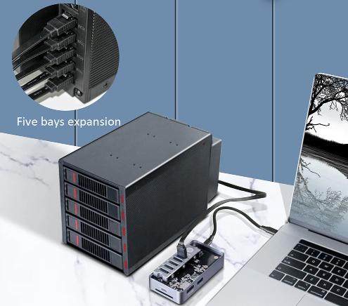 jeyi 5 bays usb3.0 to sata external hard drive