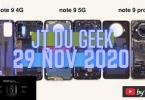 Jt Du Geek 29 Nov Demontage Serie #redminote95g #huaweisoundpro #doogeen30 #live