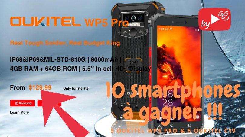 Lancement Du Oukitel Wp5 Pro 5,5 Ip68 Ip69 8000mah À Prix Choc (5 Smartphones À Gagner)