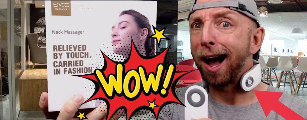 masseur de nuque intelligent skg par impulsion electrique, a essayer d'urgence car génial