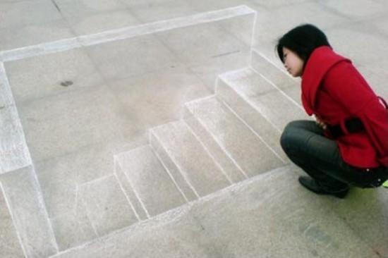 escalier 3D