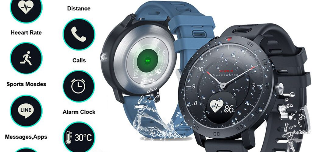 New Zeblaze Hybrid Smartwatch Heart Rate Blood Pressure Monitor Smart Watch Exercise Tracking Sleep Tracking Smart