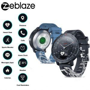 New Zeblaze Hybrid Smartwatch Heart Rate Blood Pressure Monitor Smart Watch Exercise Tracking Sleep Tracking Smart