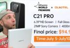 oukitel c21 pro avec caméra sony à moins de 95$ et des cadeaux à gagner.