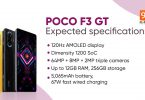 poco f3 gt expected specifications