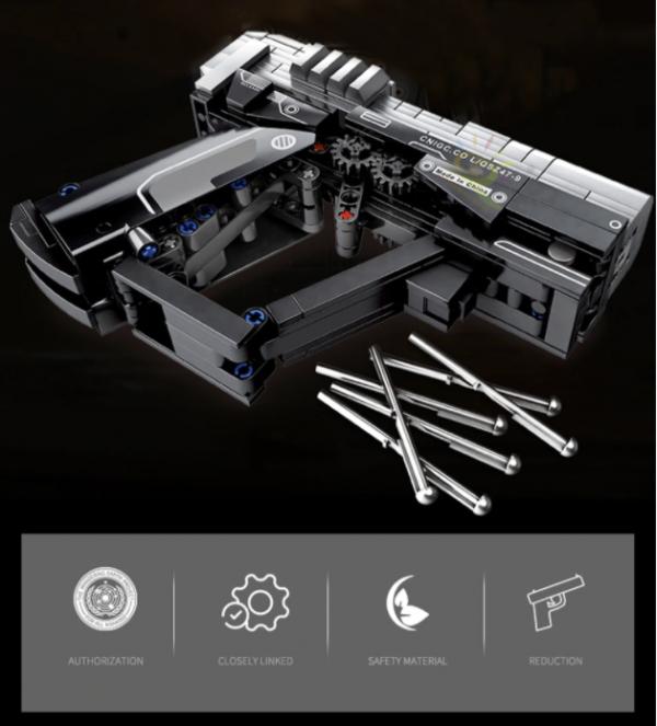 Pistolet Technic Huiqibao 364 Pièces