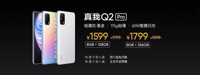Prix Realme Q2 Pro