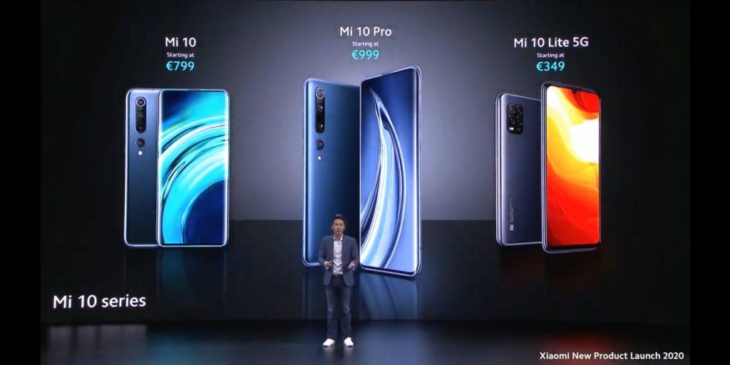 Prix Xiaomi Mi 10 Series