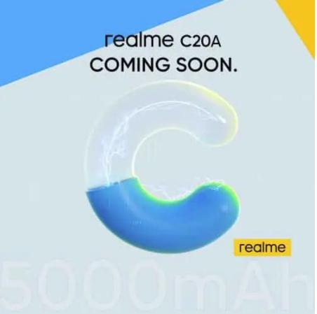 realme c20a teaser