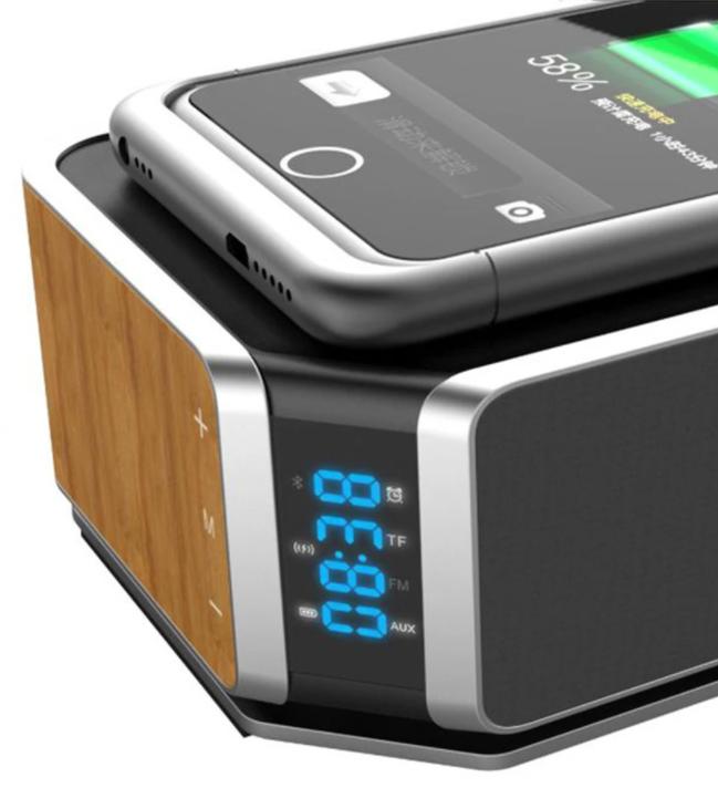 Réveil Bluetooth Avec Charge Sans Fil Qi