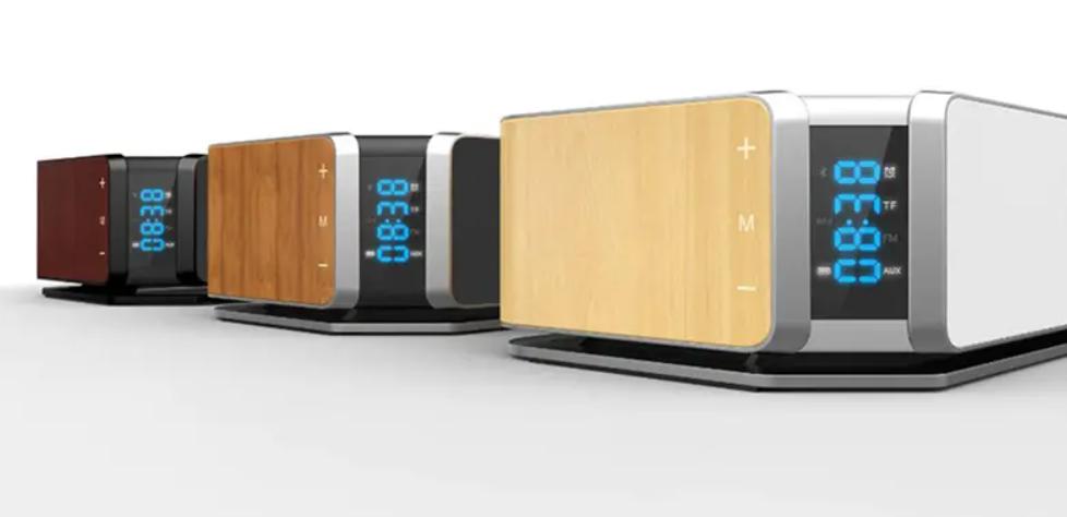 Réveil Bluetooth Avec Charge Sans Fil Qi Color