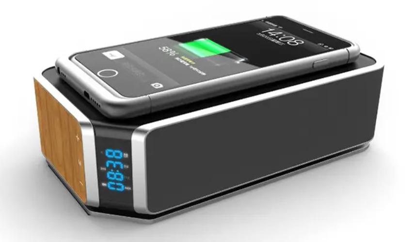 Réveil Bluetooth Avec Charge Sans Fil Qi Design