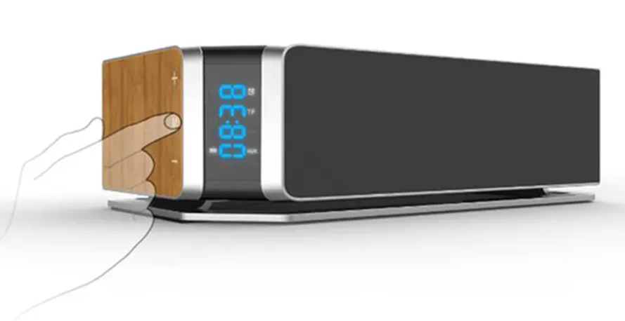 Réveil Bluetooth Avec Charge Sans Fil Qi Touch