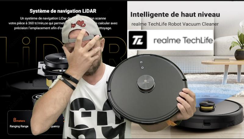 realme techlife robot aspirateur et lavage avec lidar et 3000pa à prix realme