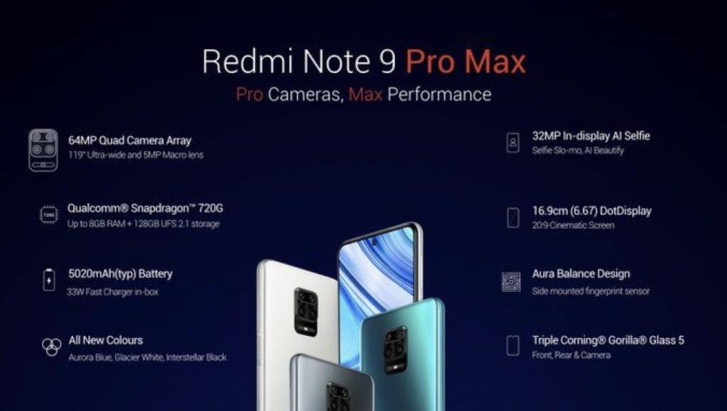 Redmi Note 9 Prto Max