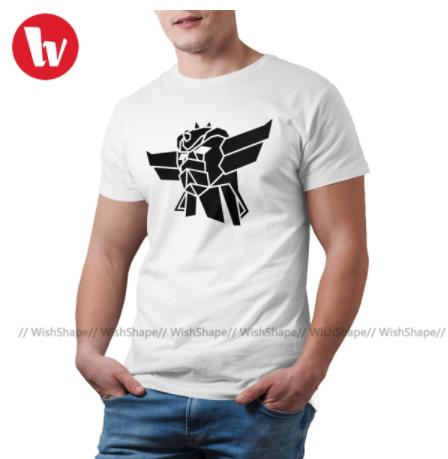t shirt goldorak n&b