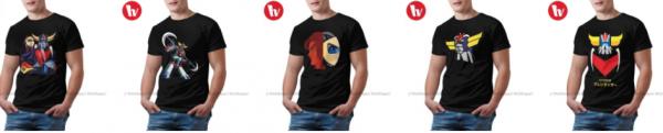 t shirt goldorak design