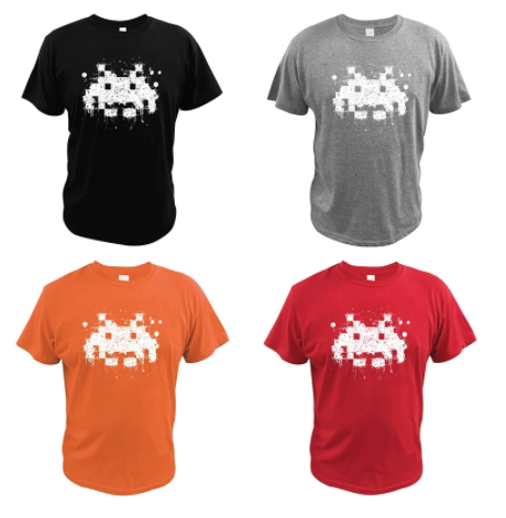 t shirt space invader
