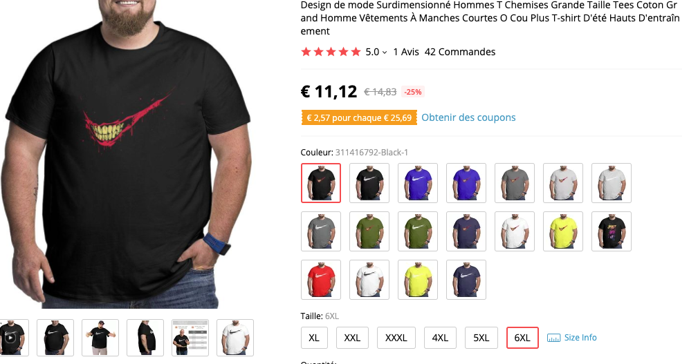 t shirt grande taille
