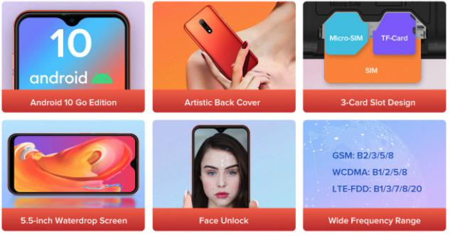 Ulefone Note 8p Details