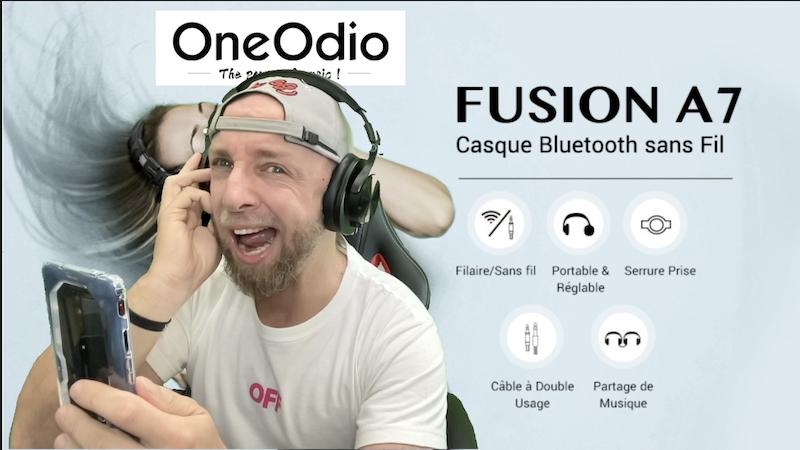 un casque bluetooth studio monitoring dj fusion à double entrée à 39,99€ oneodio a70