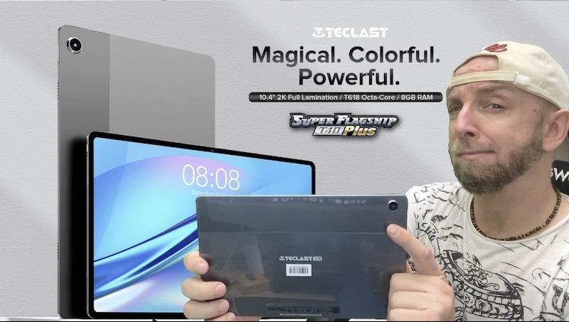 une tablette 4g de 10,4 2k t618 à 200€ la teclast t40 plus