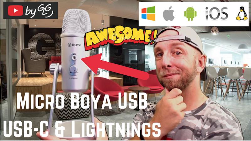 vignette micro boya pro pour pc,mac,android et ios avec triple capsules à condensateur, il te le faut