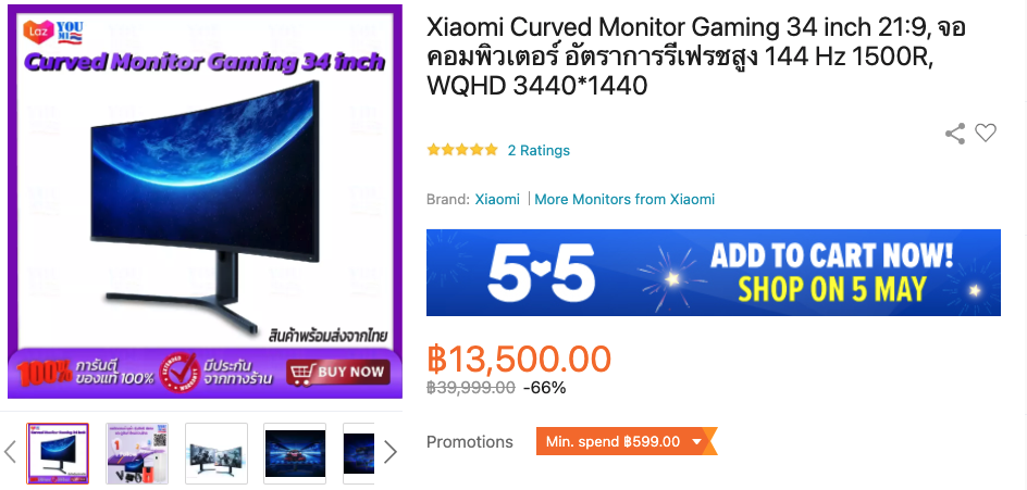 xiaomi 34 inch curved ultrawide monitor