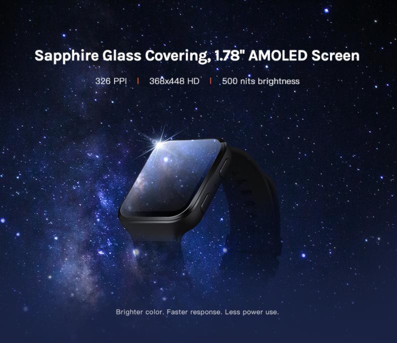 Xiaomi 70mai Amoled Saphir Smartwatch Avec Alexa